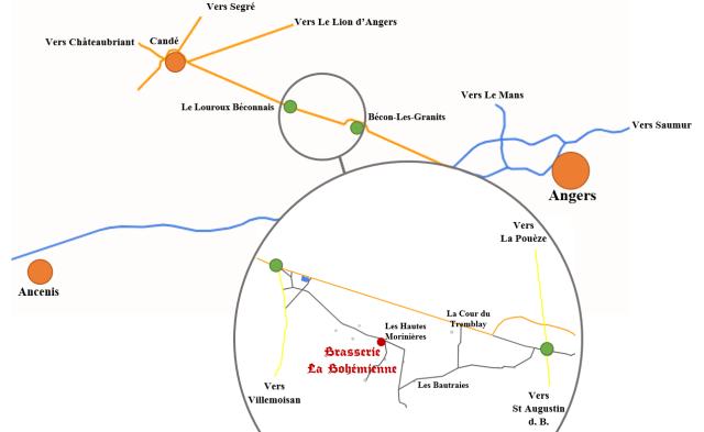 Carte localisation brasserie la bohemienne