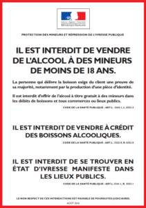 Interdiction vente aux mineur