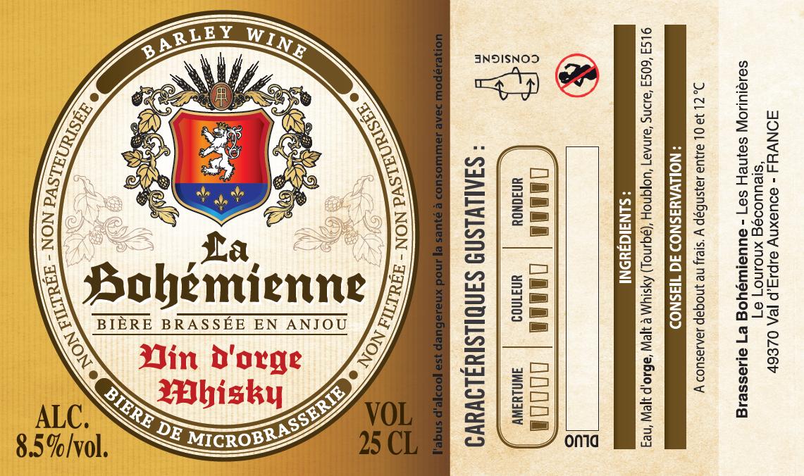 Etiquette Vin d'Orge Whisky